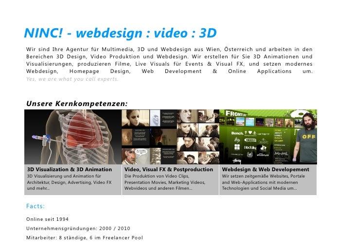 NINC! - webdesign : video : 3DWir sind Ihre Agentur für Multimedia, 3D und Webdesign aus Wien, Österreich und arbeiten in ...