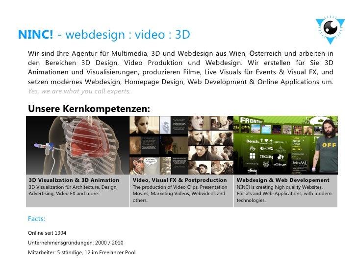 NINC! - webdesign : video : 3D Wir sind Ihre Agentur für Multimedia, 3D und Webdesign aus Wien, Österreich und arbeiten in...