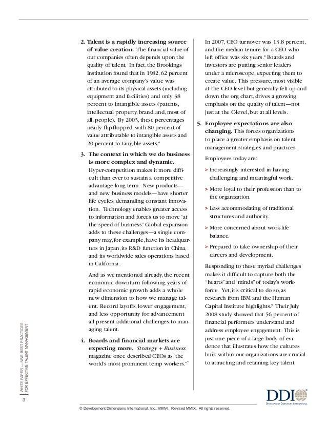 best practices in talent management pdf