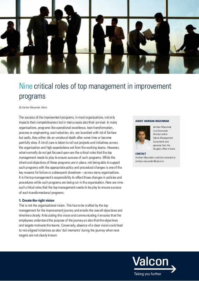 Roles of a top manager air