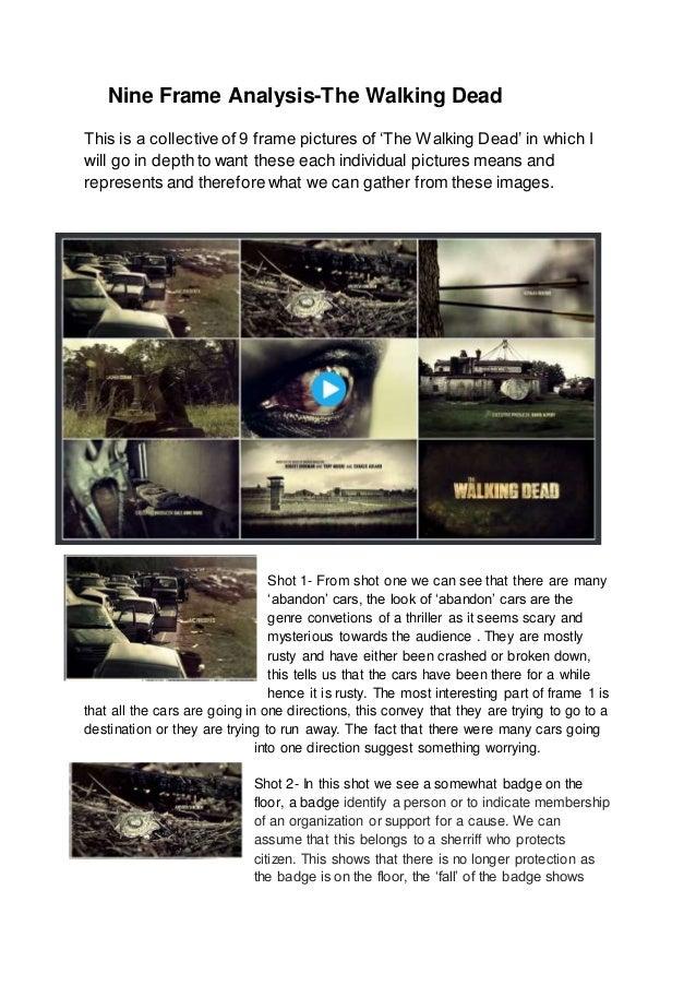 Nine Frame Analysis The Walking Dead