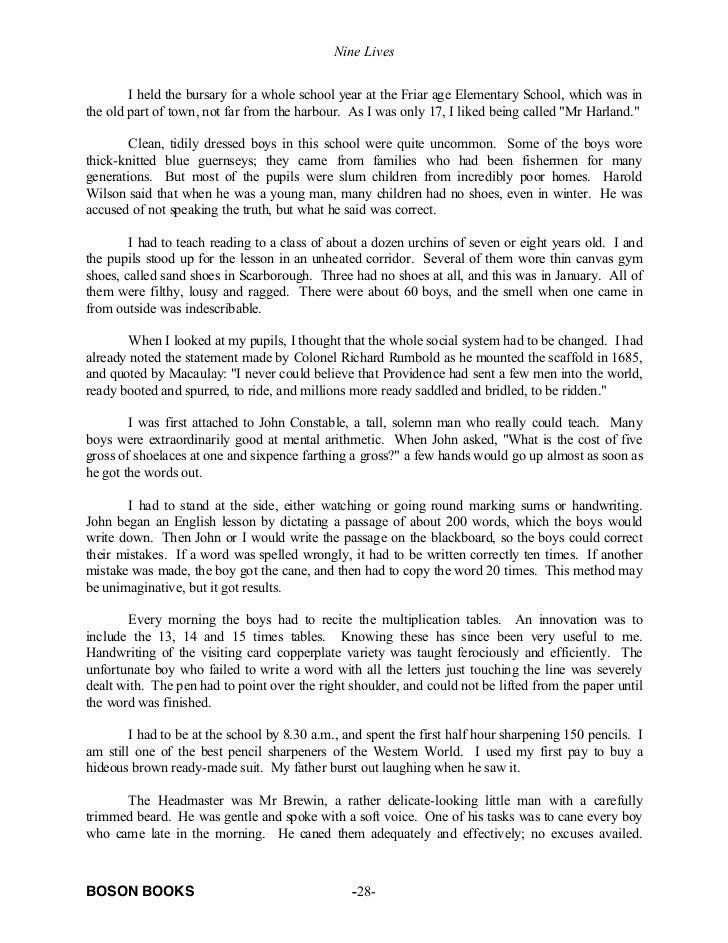 essays autobiography of pencil