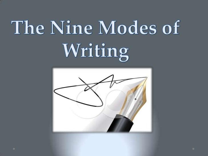 Essay modes