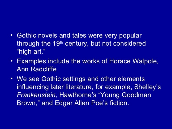 nathaniel hawthorne gothic elements essay example Everything you need to know about the genre of nathaniel hawthorne's young goodman brown, written by experts with you in mind.