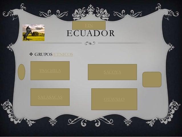  GRUPOS ETNICOS ECUADOR TSACHILA SACOYA SALASACAS OTAVALO FIN