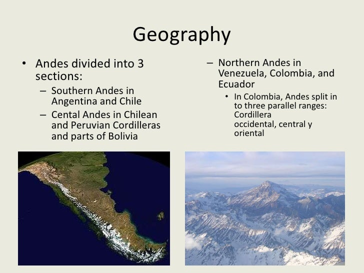The Andes Mountain Range - Where are the andes mountains