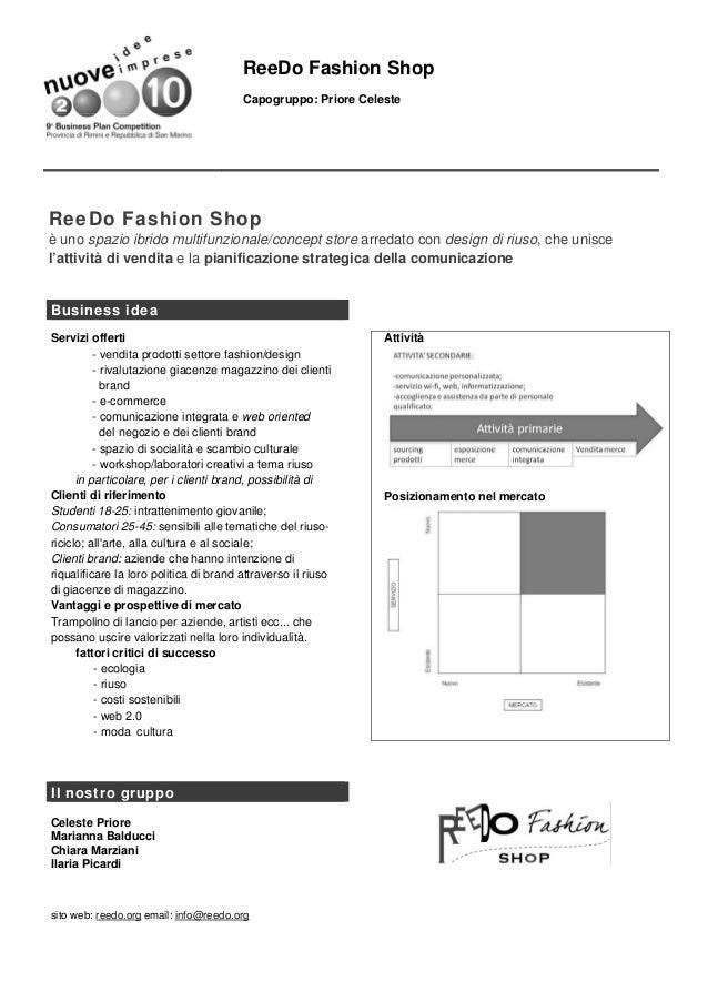 ReeDo Fashion Shop                                        Capogruppo: Priore CelesteReeDo Fashion Shopè uno spazio ibrido ...