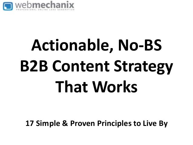 The Best B2B Content Marketing Strategy (