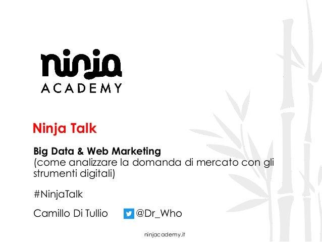 ninjacademy.it Ninja Talk Big Data & Web Marketing (come analizzare la domanda di mercato con gli strumenti digitali) #Nin...
