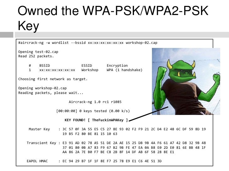Owned the WPA-PSK/WPA2-PSK Key #aircrack-ng