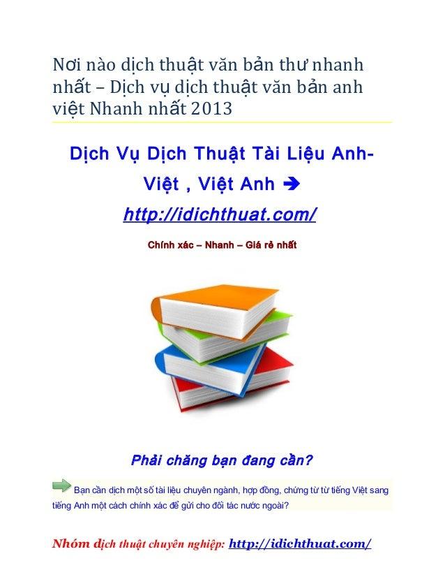 Nơi nào dịch thuật văn bản th ư nhanhnhất – Dịch vụ dịch thuật văn bản anhviệt Nhanh nhất 2013    Dịch Vụ Dịch Thuật Tài L...