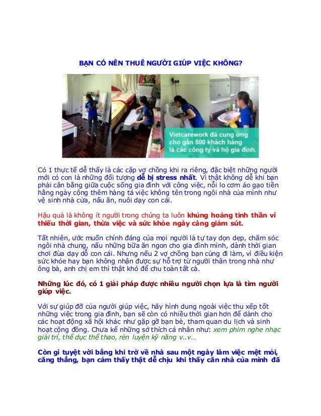 Chỗ nào dịch vụ giúp việc Quận Tân Bình HCM - Chỗ nào dịch vụ giúp việc cho người nước ngoài có kinh nghiệm HCM BẠN CÓ N...