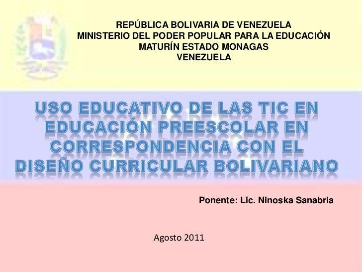 REPÚBLICA BOLIVARIA DE VENEZUELA<br />MINISTERIO DEL PODER POPULAR PARA LA EDUCACIÓN<br />MATURÍN ESTADO MONAGAS<br />VENE...
