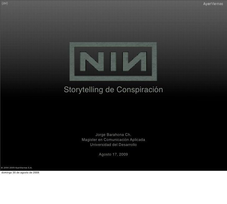 Storytelling de Conspiración                                                Jorge Barahona Ch.                            ...