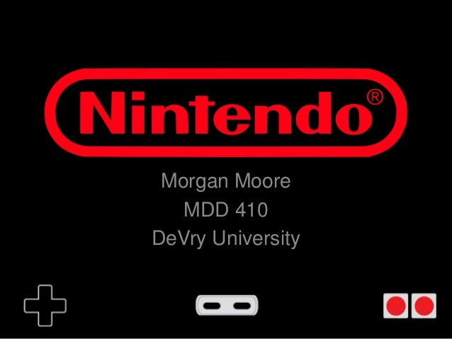 Morgan Moore   MDD 410DeVry University