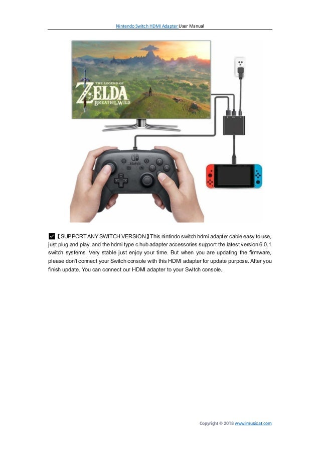 Nintendo switch-hdmi-adapter-manual