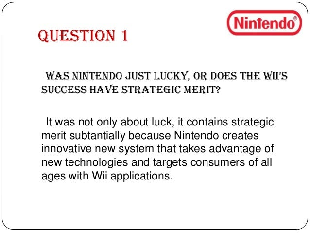 case study nintendo Nintendo this case study nintendo and other 63,000+ term papers, college essay examples and free essays are available now on reviewessayscom autor: reviewessays.