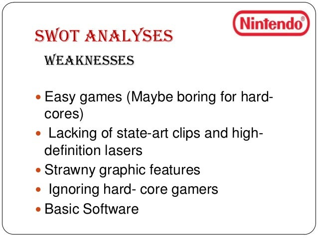 "nintendo case analysis Week 5 ""case analysis:  the major video gaming titans of today are nintendo,  more about video game industry analysis essay."