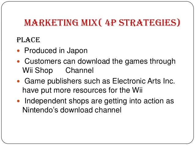 Marketing mix of nintendo