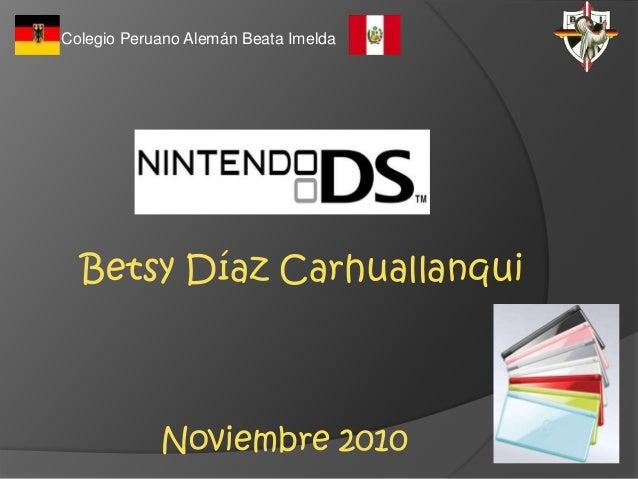 Betsy Díaz Carhuallanqui Colegio Peruano Alemán Beata Imelda Noviembre 2010