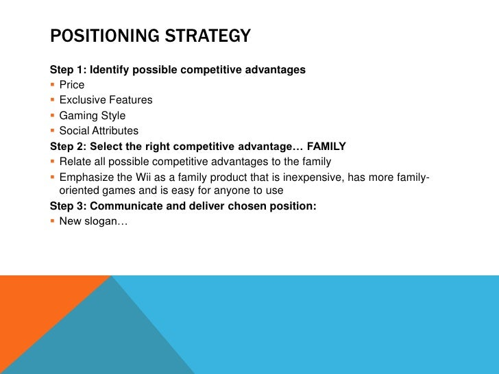 nintendo wii marketing strategy essay Área marketing estratégico wii: creating a blue ocean the nintendo way patricioo'gorman1 resumen nintendo's wii strategy can be summarized as a disruptive.