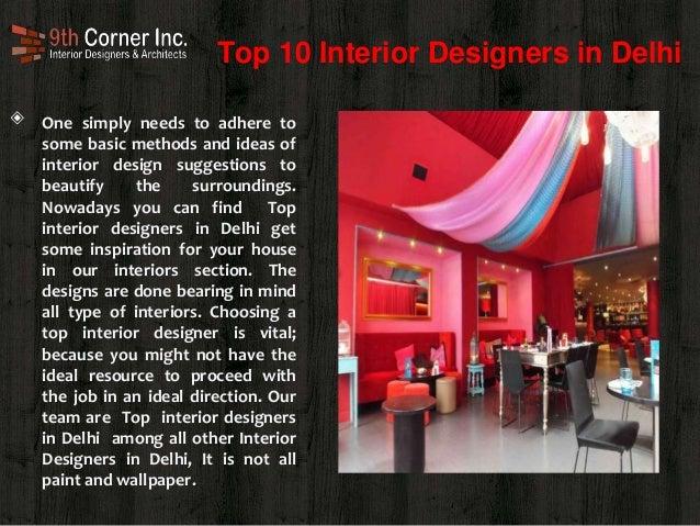 Famous Interior Designer In Delhi
