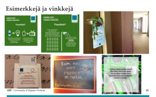 UEF // University of Eastern Finland Esimerkkejä ja vinkkejä 22