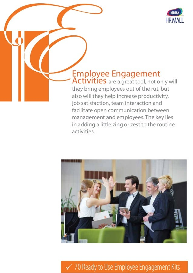 70ReadytoUseEmployeeEngagementKits Employee Engagement Activities are a great tool, not only will they bring employees ou...