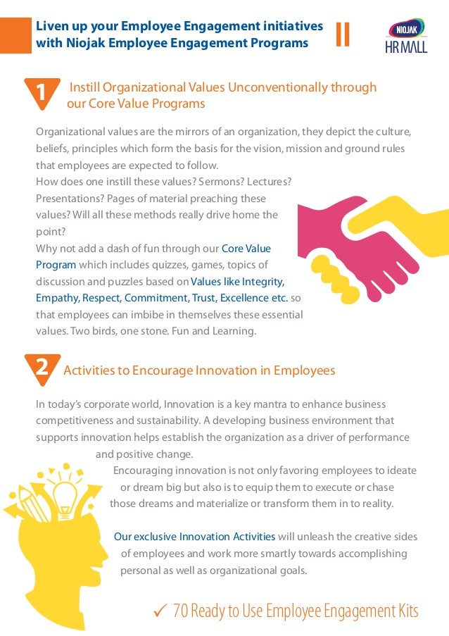 70ReadytoUseEmployeeEngagementKits Liven up your Employee Engagement initiatives with Niojak Employee Engagement Programs...