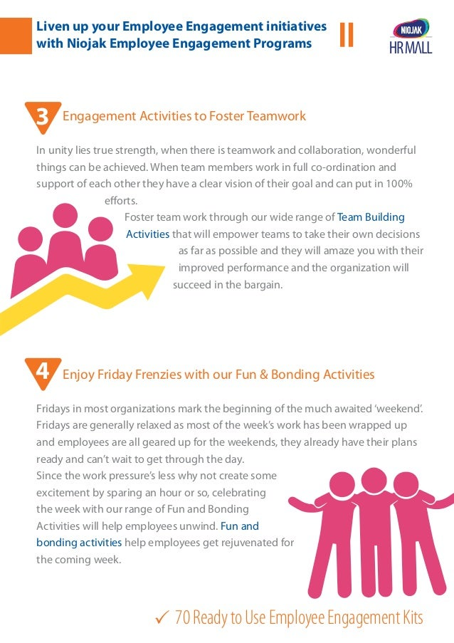 70ReadytoUseEmployeeEngagementKits Engagement Activities to Foster Teamwork In unity lies true strength, when there is te...