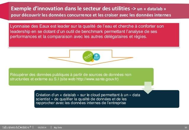 © 10 Exemple d'innovation dans le secteur des utilities -> un « datalab » pour découvrir les données concurrence et les cr...