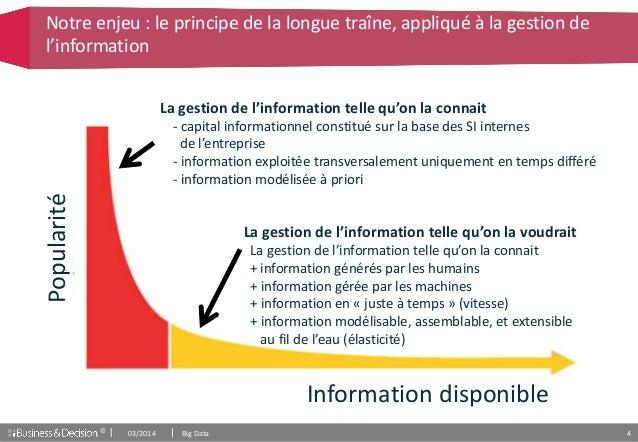 © 4 Popularité Information disponible Notre enjeu : le principe de la longue traîne, appliqué à la gestion de l'informatio...