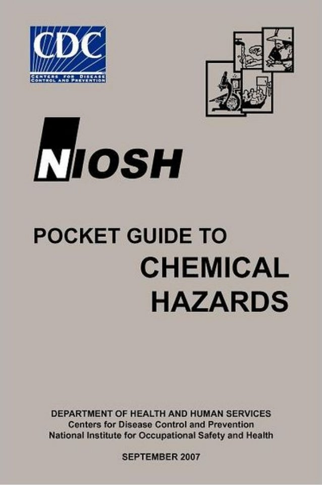niosh gu a de bolsillo sobre riesgos qu micos rh slideshare net NIOSH Rating Pocket Dot Placard Guide