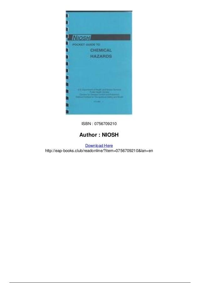 Niosh pocket guide to chemical hazards pdf.
