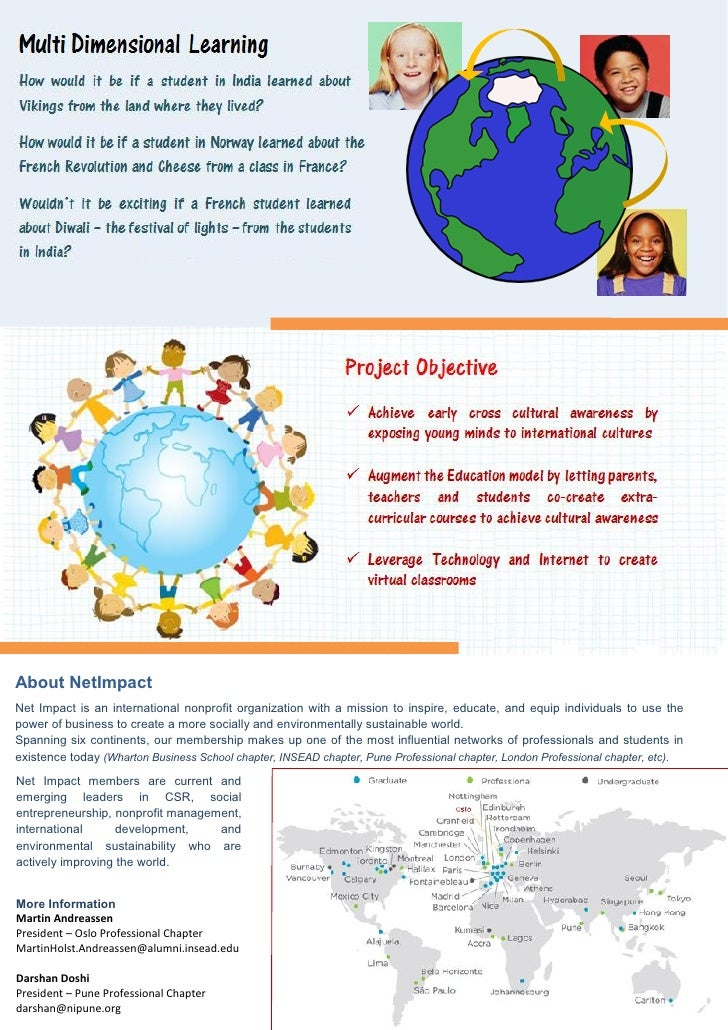 Mutli-Dimensional Learning consulting project brochure