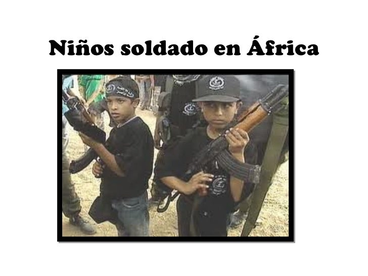 Niños soldado en África