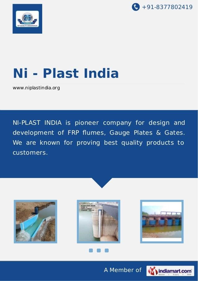 +91-8377802419  Ni - Plast India www.niplastindia.org  NI-PLAST INDIA is pioneer company for design and development of FRP...