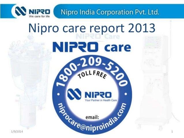 Nipro care report 2013  1/9/2014  1