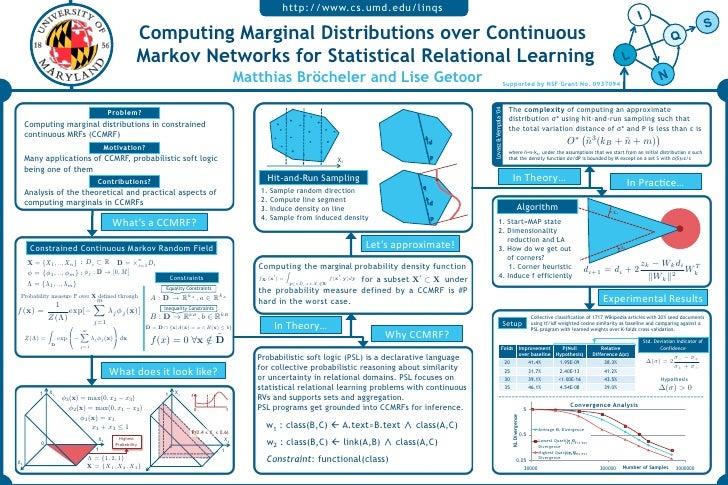 http://www.cs.umd.edu/linqs                                                       Computing Marginal Distributions over Co...