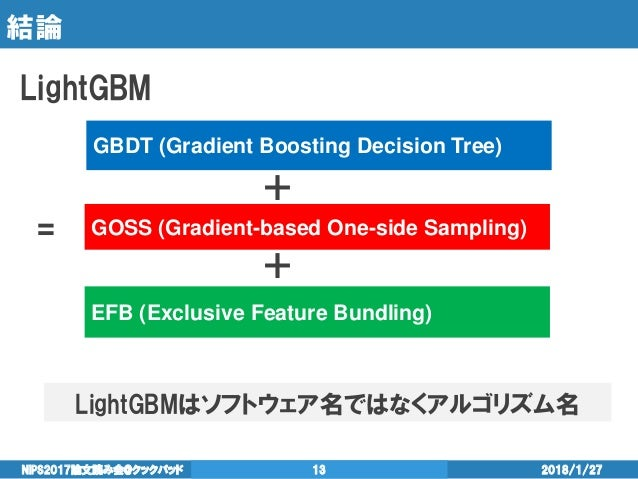 NIPS2017読み会 LightGBM: A Highly Efficient Gradient Boosting