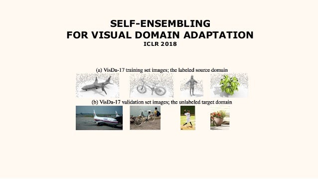 SELF-ENSEMBLING FOR VISUAL DOMAIN ADAPTATION ICLR 2018