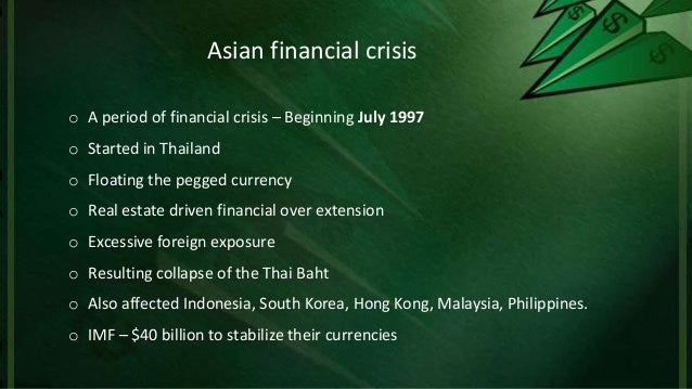 south east asian crisis The asian economic crisis of 1997-98 was a singular event in the region's  postwar  in the mid-1980s, and a number of southeast asian countries  experienced.