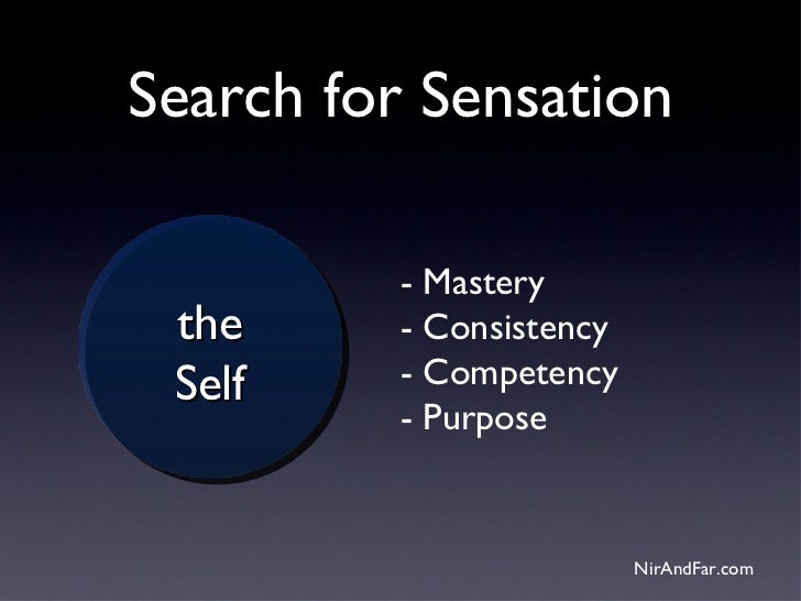 Search for Sensation          - Mastery the      - Consistency Self     - Competency          - Purpose                   ...