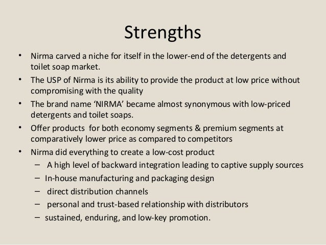 swot analysis of nirma shudh salt Letshavelatestupdates menu  ahir salt industries nirma shudh  the production value and market share in conjunction with the swot analysis.