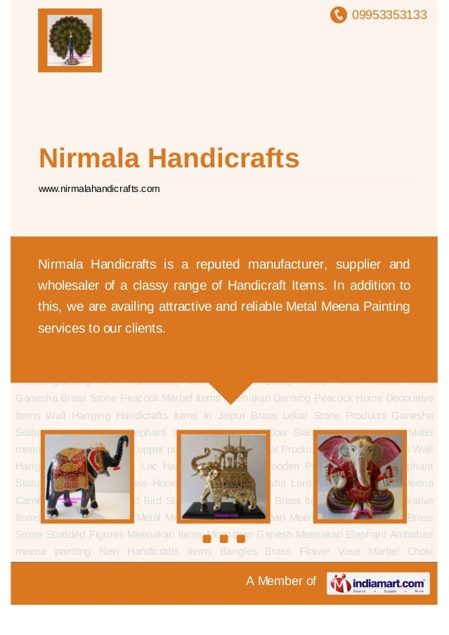 09953353133A Member ofNirmala Handicraftswww.nirmalahandicrafts.comHandicrafts Items In Jaipur Brass Lekar Stone Products ...