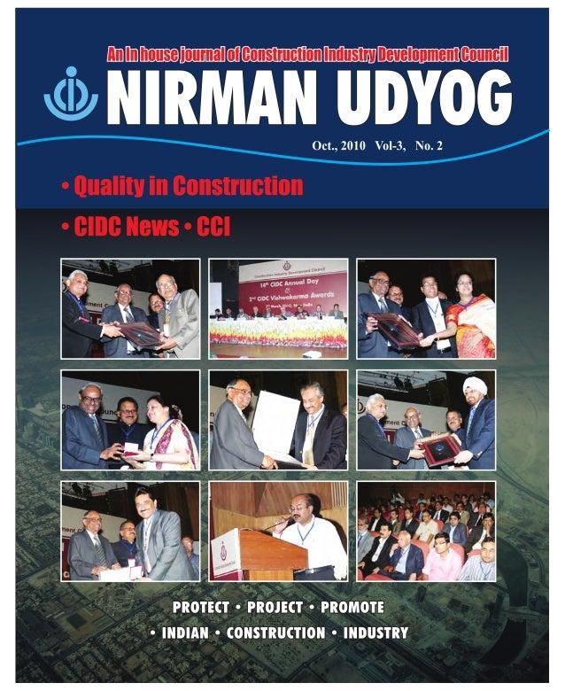 Construction Industry Development Council, New Delhi, India      Table of Contents    Nirman    UDYOG                     ...