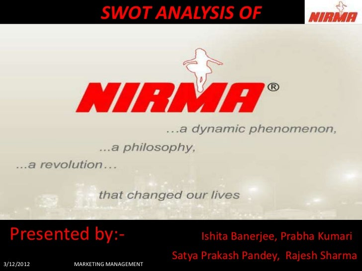 SWOT ANALYSIS OF  Presented by:-                        Ishita Banerjee, Prabha Kumari                                   S...