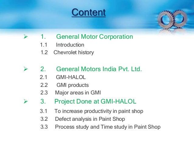 Industrial Training At General Motors By Vivek Nirwal