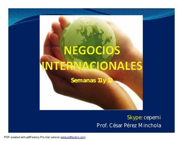 Semanas 11 y 12 Skype: cepemi Prof. César Pérez Minchola PDF created with pdfFactory Pro trial version www.pdffactory.com