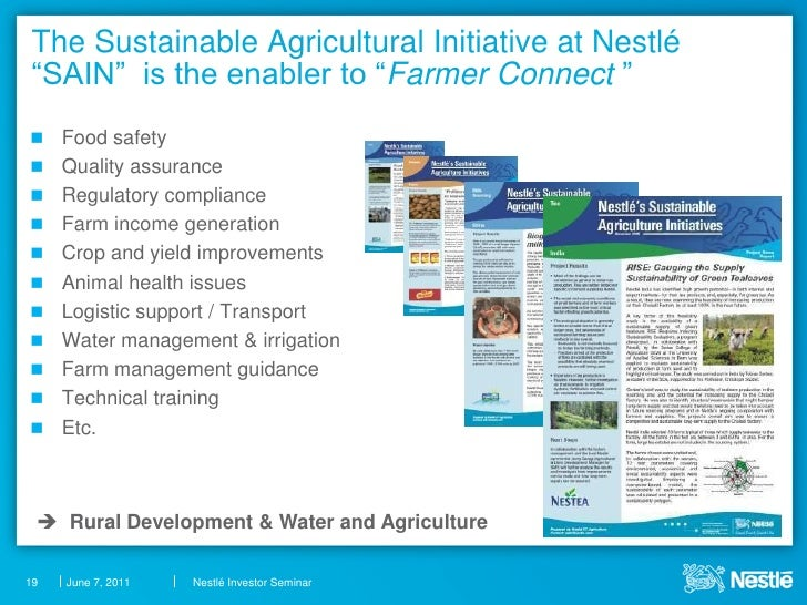 supplier partner issues faced by nestle Nestlé now ranks second in the scorecard, just below unilever  the index  tackles some cutting edge issues that will require rigorous debate and dialogue.